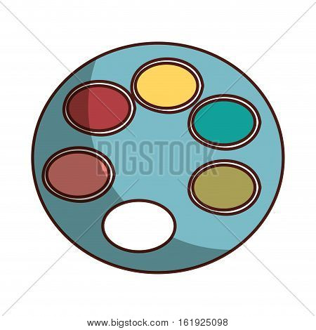 pallete paint isolated icon vector illustration design