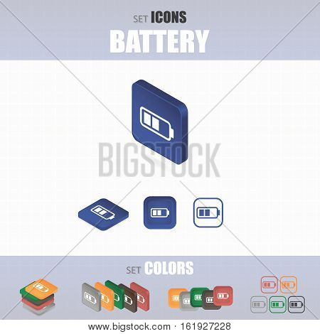 Set Of Battery Icons.