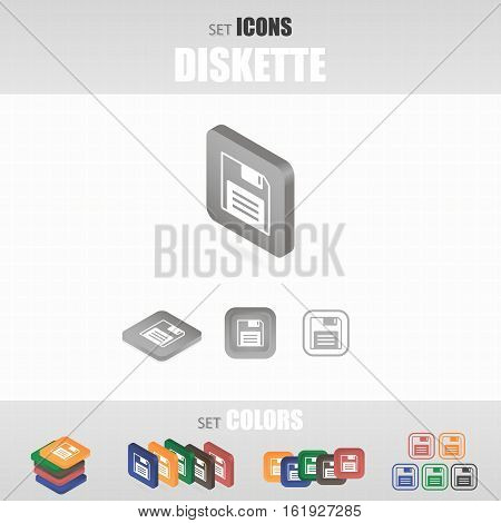 Several Types Of Icons. Different Color Options. Vector