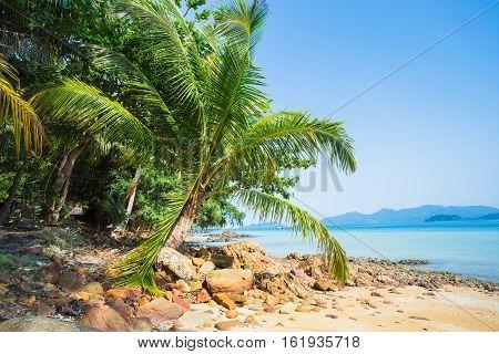 Beautiful Tropical Beach At Island Koh Chang