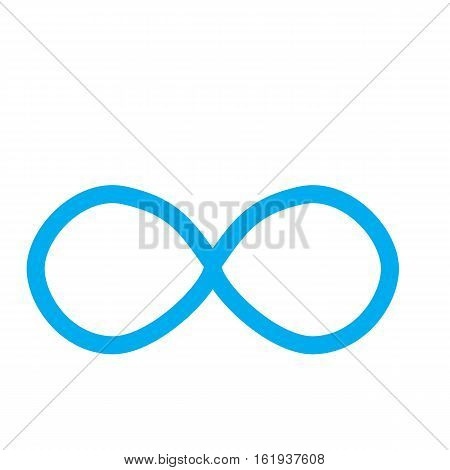 Infinity symbol Isolated on White Background. Limitless sign.