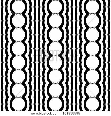Design Seamless Monochrome Waving Pattern