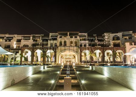 Oman, Salalah, 19.10.2016 -Amazing night lights at Hotel Al Fanar Souly Bay Hotels Oceanside 2
