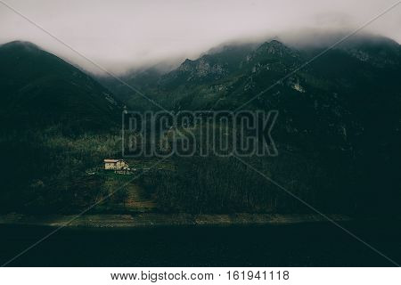 lonely house in the mountains an isolated place perfect to get lost and find yourself