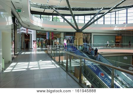 Illustration Of Shopping In Shopping Center Of Mall Galleria