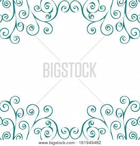 Decorative vintage pattern text background. Vector illustration.