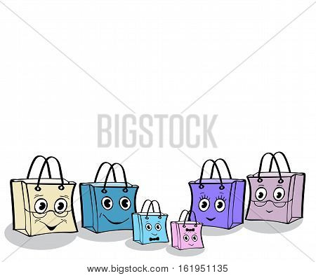 Fun family gift wrap package sale. Illustrator vector