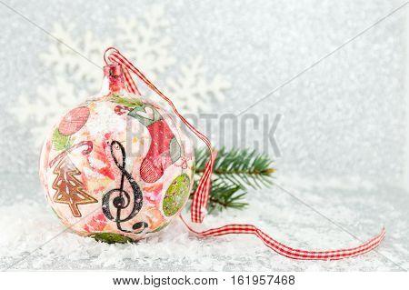 Decoupage Christmas Ball