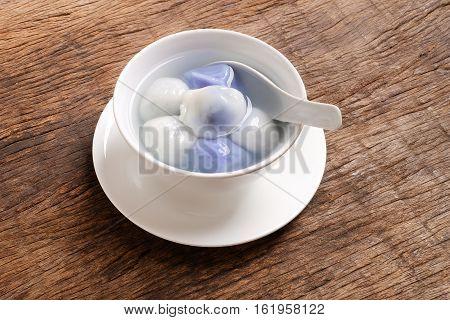 Tang Yuan(sweet Dumplings) Filled With Black Sesame.