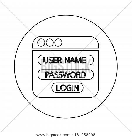 an images of Website login form icon illustration design
