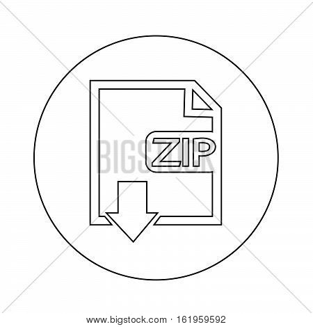 an images of File type ZIP icon illustration design