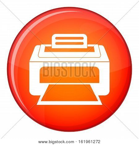 Modern laser printer icon in red circle isolated on white background vector illustration