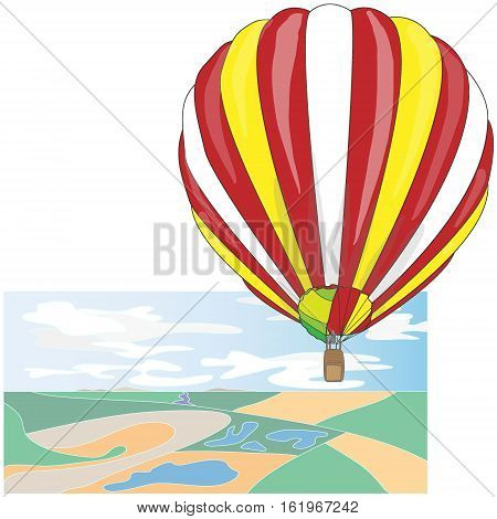 Hot Air Balloon / montgolfier and Clouds