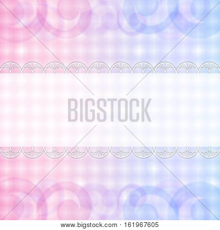 Pastel pink and blue background with copy space.