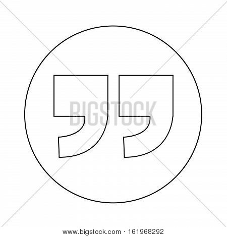 an images of Quotation mark symbol Icon illustration design
