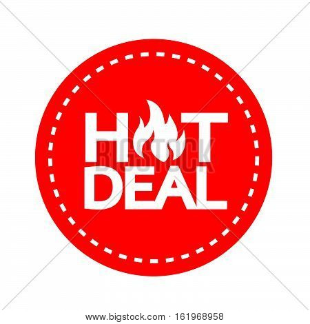 an images of hot deal icon illustration design