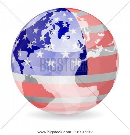 american flag ball