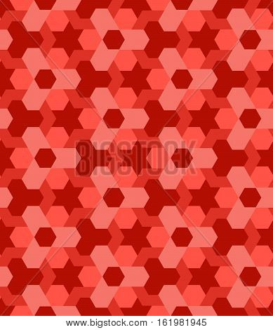 Abstract red shades vogue decorative seamless geometric pattern