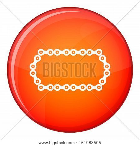 Bicycle chain icon in red circle isolated on white background vector illustration