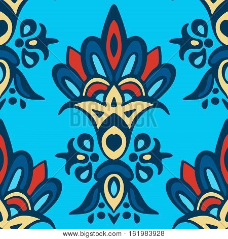 damask floral medallion classic pattern. tile background