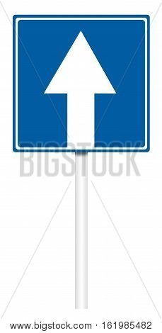 Informative Traffic Sign - Road With One-way Traffic