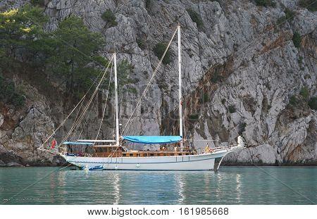 Boat trip around Kemer, Antalya province, Turkey