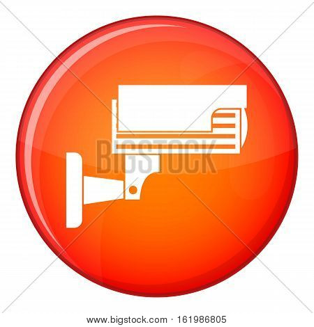 Hand with parking ticket icon in red circle isolated on white background vector illustration