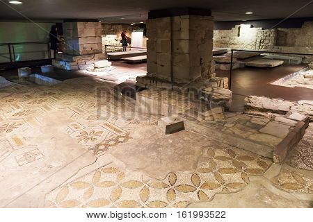 Floor Of Ancient Church Santa Reparata In Crypt