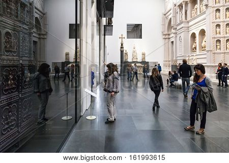 Hall With Original Doors In Museo Opera Del Duomo