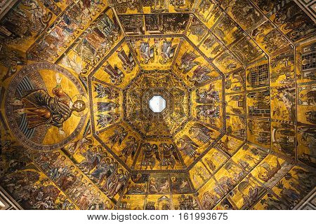 Ceiling Of Florence Baptistery San Giovanni
