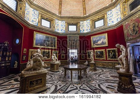 Interior Of Tribune Room In Uffizi Gallery