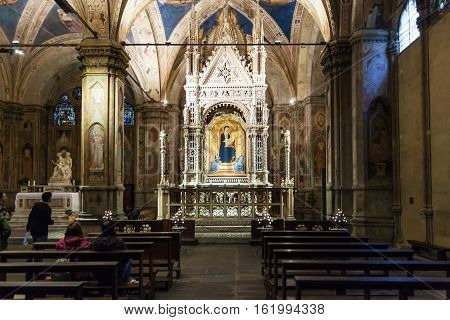 Inside Of Orsanmichele Church In Florence