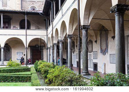 Loggia In Basilica Di San Lorenzo In Florence