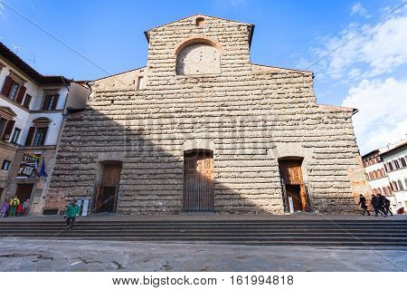 Facade Basilica Di San Lorenzo In Florence