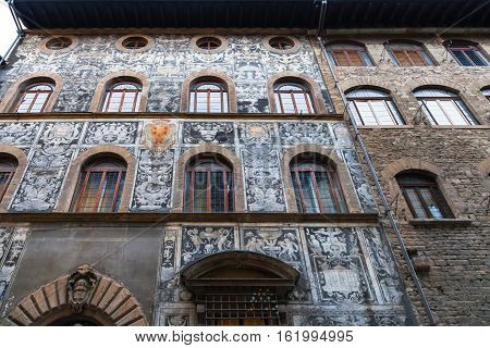 Facade Of Palazzo Di Bianca Cappello In Florence