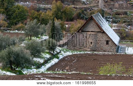 Ancient Orthodox Christian church of Panagia Podithou at the village of Galata in Cyprus.
