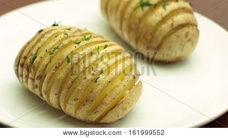Hasselback Potatoes - Sliced Baked Potato