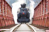 steam locomotive, Ciernohronska Railway, Slovakia poster
