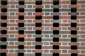 Patterned Brick Wall