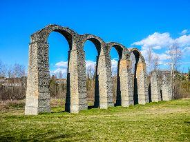 Hdr Roman Aqueduct In Acqui Terme