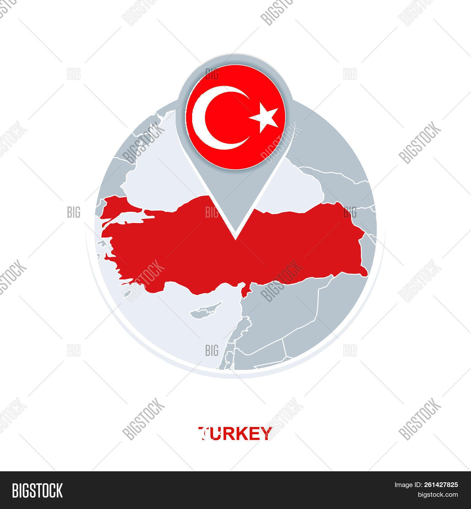 Turkey Map Flag, Vector & Photo (Free Trial) | Bigstock