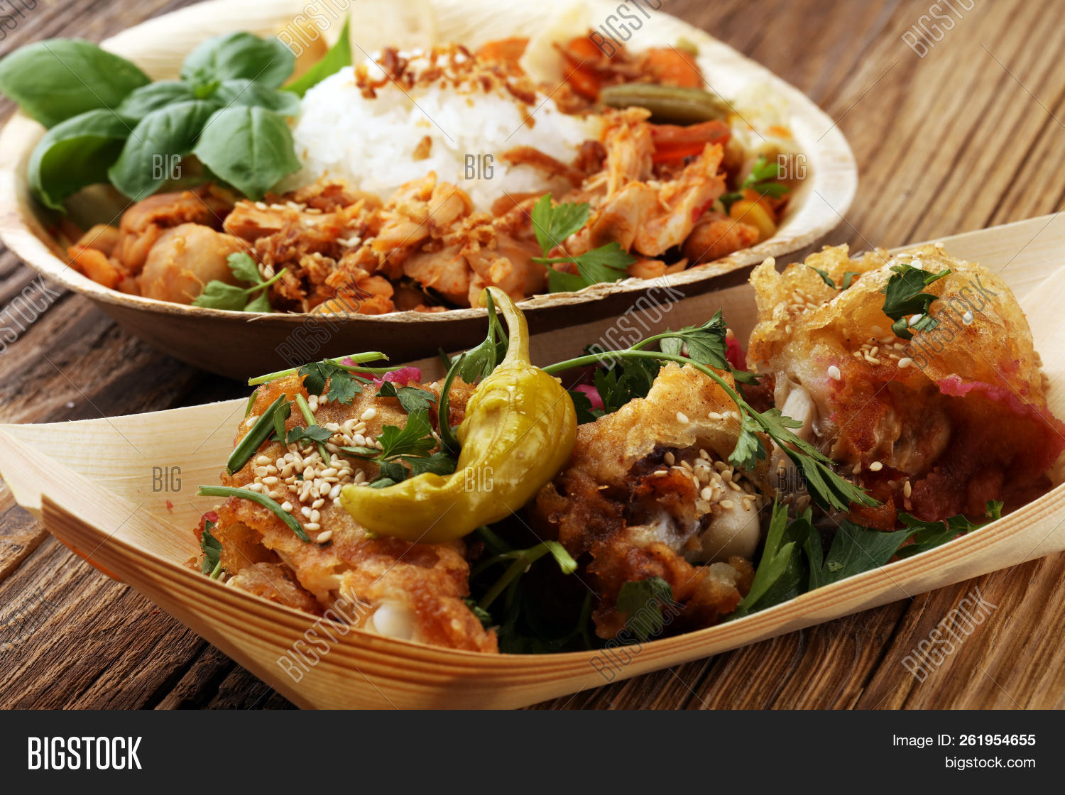Various Street Food Image Photo Free Trial Bigstock