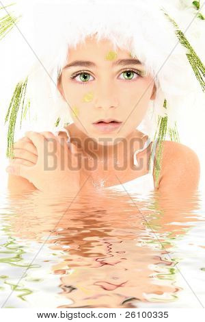 Mermaid princess fairy in water role play character costume. poster