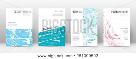 Cover Page Design Template. Geometric Brochure Layout. Bizarre Trendy Abstract Cover Page. Pink And