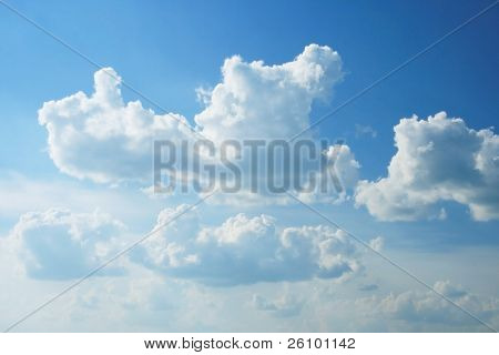 Travel. Summer in Russia. Beautiful sky