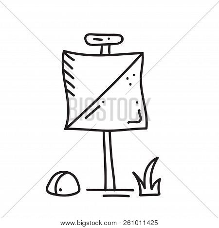 Vector Illustration Of Orienteering Icon. Isolated Elements:  Contol Point. Orientation, Navigation