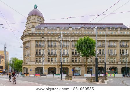 Amsterdam, Netherlands - June 25, 2017: The Historical Building Of Famous Department Store Hirsch &