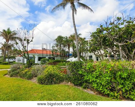 West Palm Beach, Florida -7 May 2018: The Center Of Palm Beach, Florida At United States