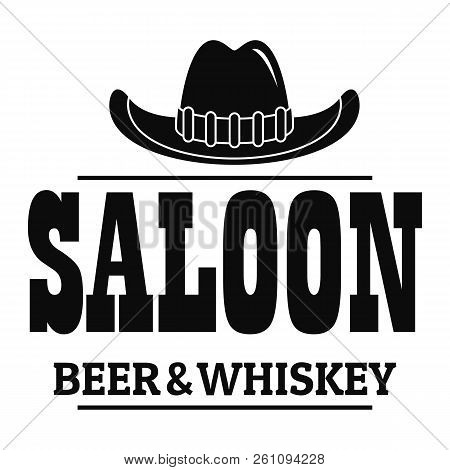 Whiskey saloon logo. Simple illustration of whiskey saloon vector logo for web design isolated on white background poster