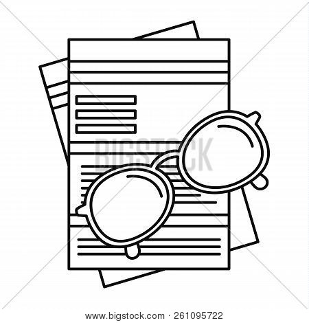 Paycheck Paper Icon. Outline Paycheck Paper Vector Icon For Web Design Isolated On White Background